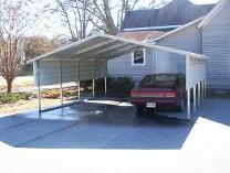 Carport with Red Car